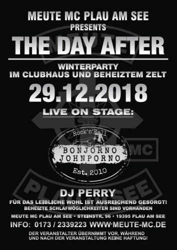 The Day after Winterparty Meute MC Plau am See
